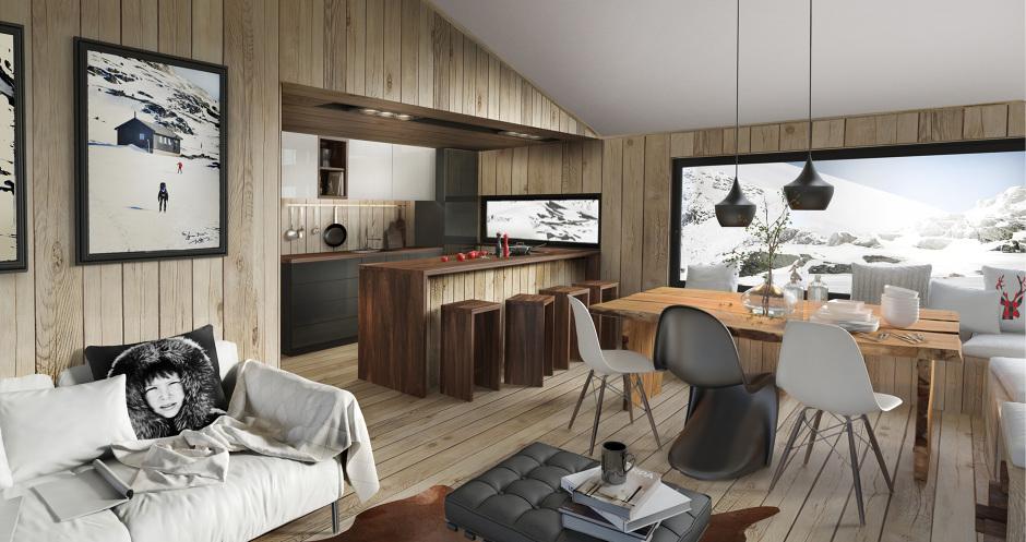 Finse hytte tysseland arkitektur - Idee deco salon cosy ...